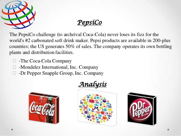 pepsi co analysis of company Pepsi co strategic analysis 3102 words | 13 pages case study: pepsico -2005 pepsico's introduction pepsico is best known for pepsi, the world's second most popular soft drink after coca cola classicpepsi co is the international food and beverage company with sales of $293 billion and net income of.