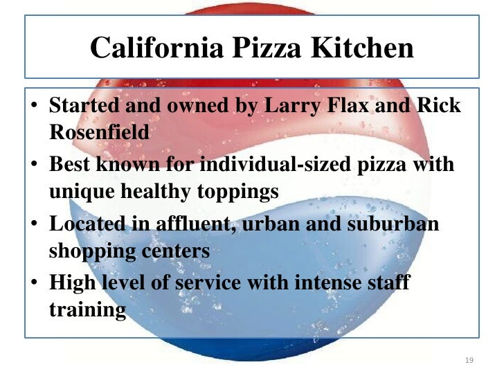 California Pizza Kitchen Case  Analysis
