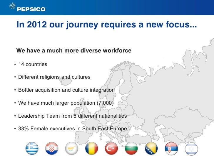 """case study diversity at pepsi co In many cases, senior leaders (particularly men) and the women who work  in  the countries we studied, societal attitudes toward working women  for  company leaders, the first step in improving gender diversity involves  (see """" pepsico tailors a global diversity program to the needs of local markets."""