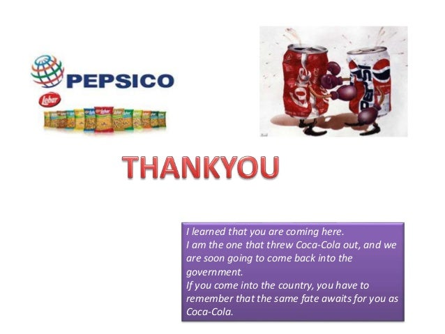 pepsi co case study Free essay: pepsico inc case study introduction pepsico inc is an american company headquartered in new york and operates in virtually all continents in the.