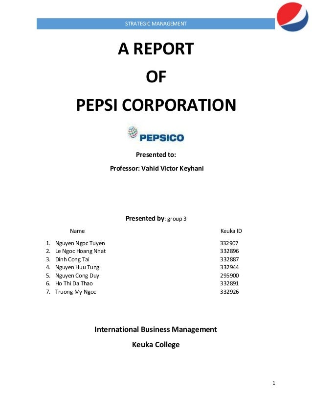 pepsi change management Includes history, company proflie, core values style of management etc   pepsico changes its advertising strategy and image to reflect the.