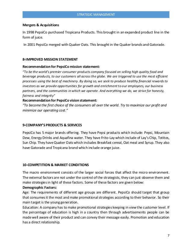 swot for quaker oats company Free essay: business strategy report for quaker oats strategic management (mgt 482) may 23, 2002 abstract organizations use strategies to impact their.