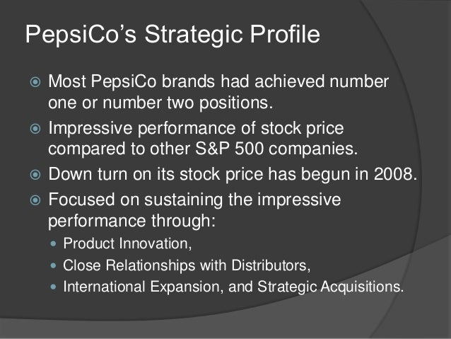 pepsi corporate strategy Transcript of pepsi co business-level strategy pepsico history the pepsi-cola story began in a they employ a corporate strategy of providing value to customers.