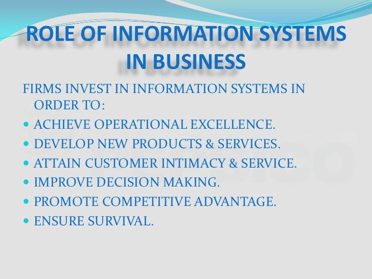 Importance of the Management Information System