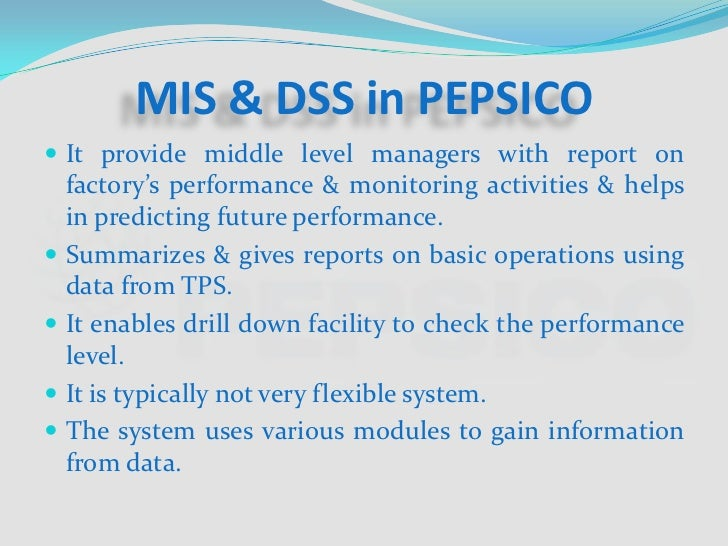 operations management pepsico Visit wwwbohatalacom and study complete report on pepsi strategic management project report and also study many more research projects.