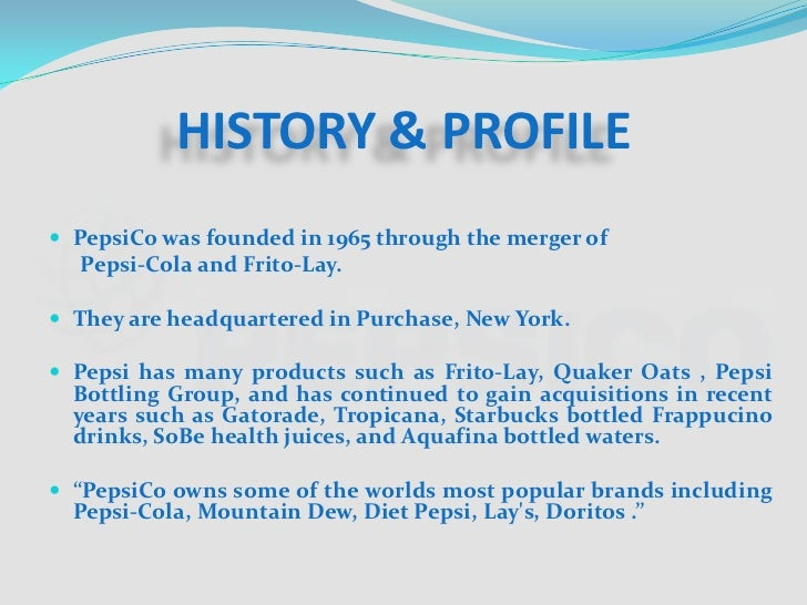 pepsi and quaker merger The merger between pepsico and quaker oats created important cost savings due to the similarities of each company's products, the distributional needs were close to each other merging with the major suppliers' channels of pepsico gave quaker oats additional benefits and savings.