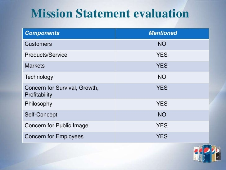 pepsico mission and objectives See what drives pepsico's business their performance with purpose goals align what is good for business with what is good for society and the planet.