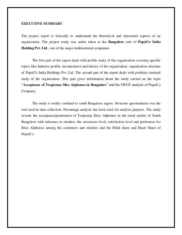 pepsico mission statement 2016