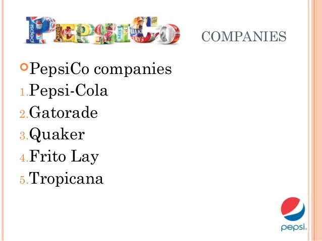 pepsi co strategic management Background established in 1965 pepsico created in 1965 through the merger of pepsi-cola and frito-lay in 1997, publicly traded company to focus pepsico on food and beverages.