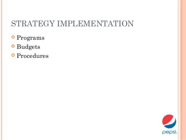 pepsi co strategic management (a guiding to performance management, 2008) pepsi co must have strategic plan in the flexible workforce hr must clearly mention the job description, total time to be work per week or per month, and the personal or the group' s goals are related to the organization' s goal.