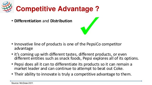 pepsi competitive advantage