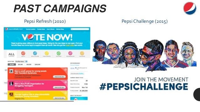 pepsi refresh analysis - pepsi did a good job in the pepsi refresh project because it made a great impression on people that it wants to help the society - also, pepsi did a good job by cancelling the project because it didn't bring economic benefit to pepsi conclusion swot analysis strengths weaknesses opportunities threats brand pepsi has very high awareness, even globally.
