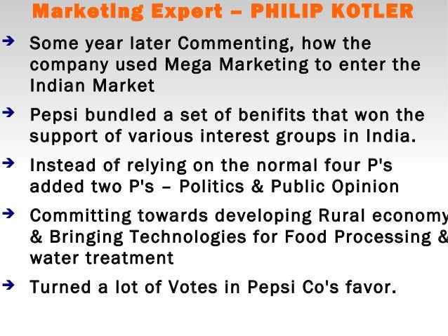 Pepsi s entry into india a lesson in globalization