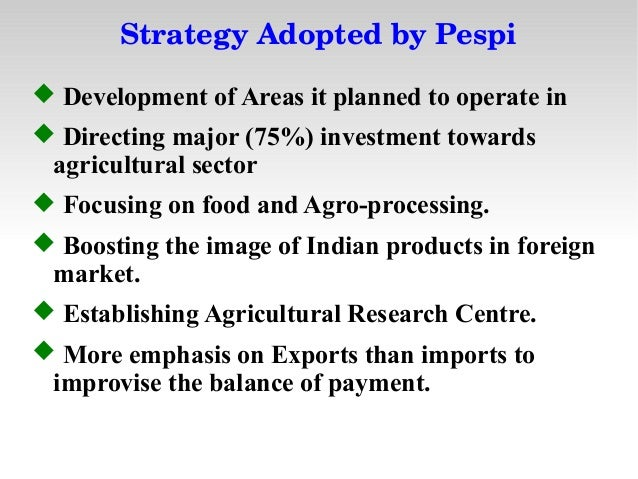 Pepsi's Strategy in Entering India