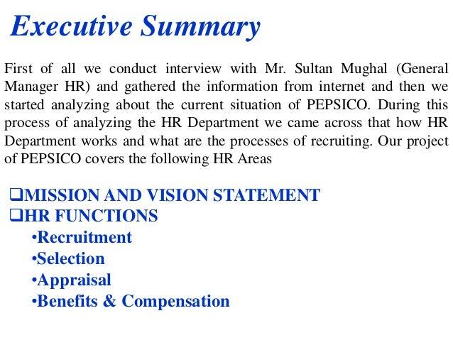 pepsi vision statement