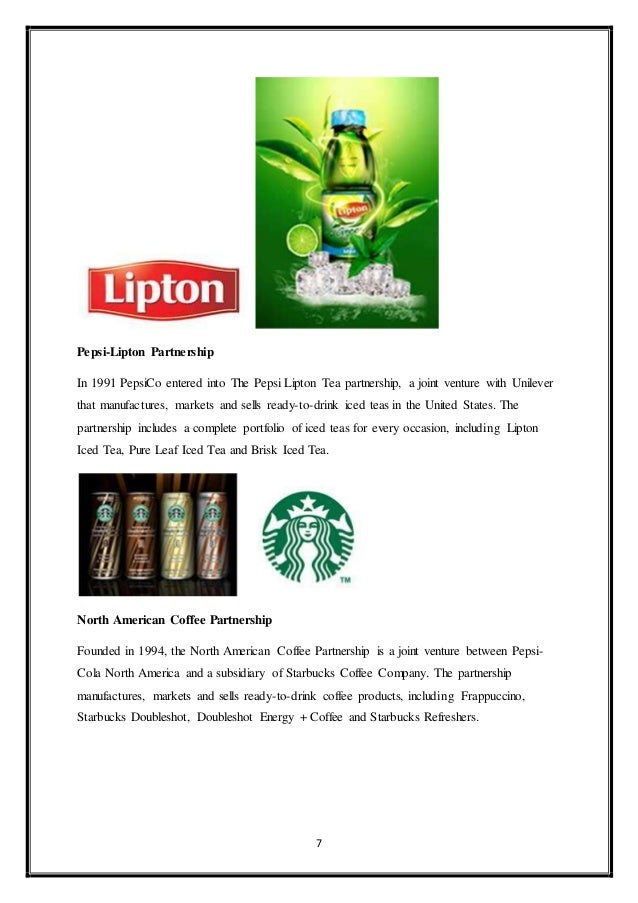 Pepsi lipton Essay Sample