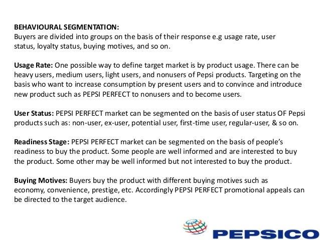 Pepsi perfect marketing plan