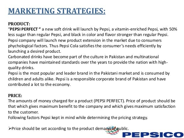 """marketing plan pepsi in pakistan Pepsi refocuses marketing spend behind its big brands as full-price sales take a hit soft drink maker admits that it hasn't been able to sell as much at full price as rivals and is planning a """"step up in investment"""" for advertising and marketing, ecommerce, data analytics and digital capability."""