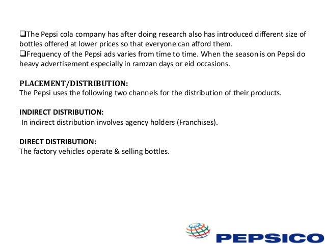 questionnaire on distribution channel of pepsi