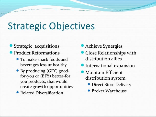 Objectives of pepsico company Research paper Sample - August 2019