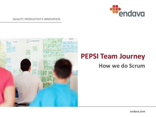 QUALITY. PRODUCTIVITY. INNOVATION.  PEPSI Team Journey How we do Scrum  endava.com