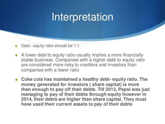 Accounting Debt To Equity Ratio
