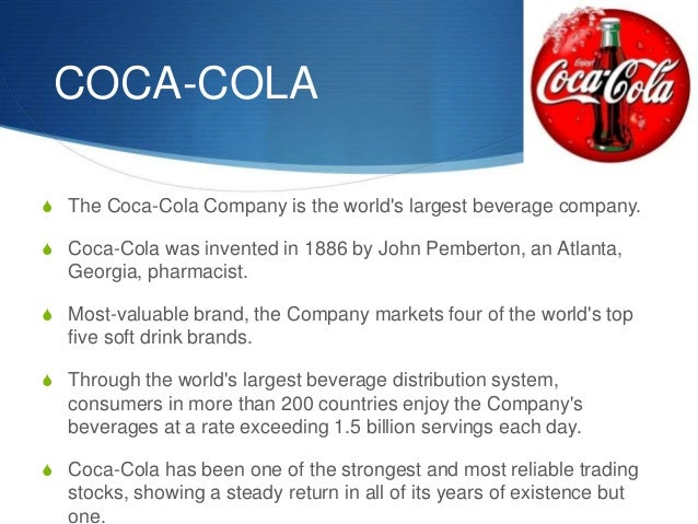 the beverage industry and concentration ratio of coca cola The market of pepsi / pepsico  will be measured by the concentration ratio and hirschmann  to other beverage industries as the coca-cola company also.