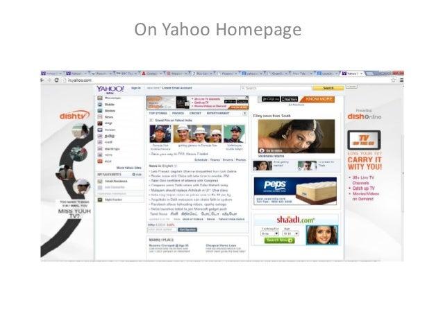 On Yahoo Homepage