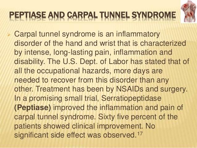 Serratiopeptidase side effects