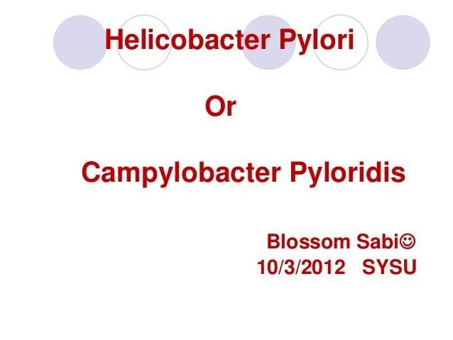 Helicobacter Pylori        OrCampylobacter Pyloridis              Blossom Sabi             10/3/2012 SYSU