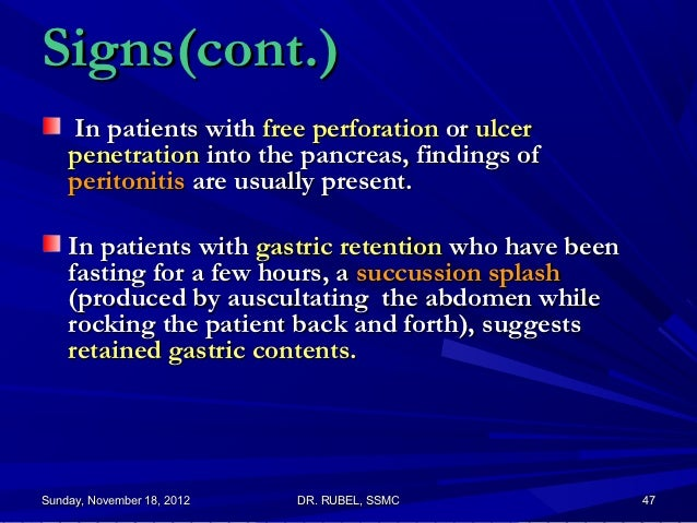 Difference between perforated and penetrate ulcers