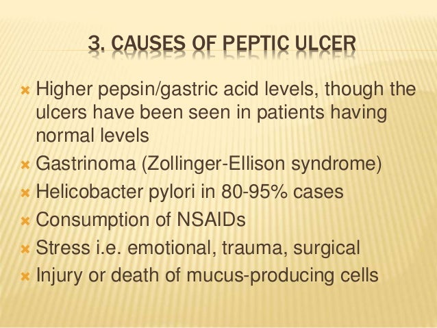 peptic ulcer causes