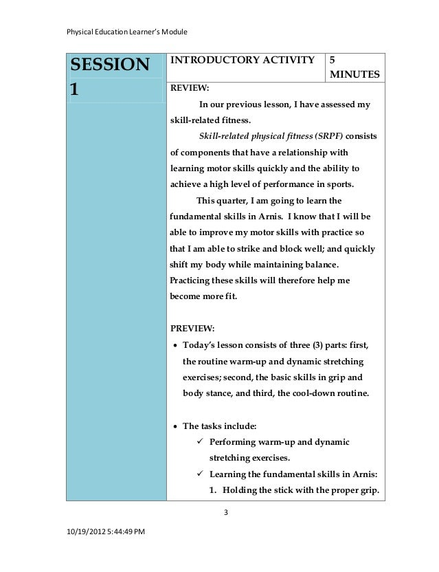 Lesson plan for first grade students