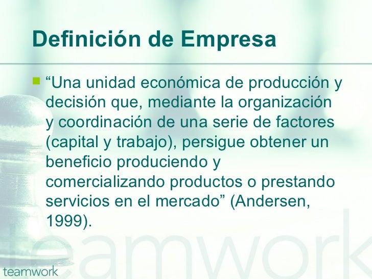 Peque as y medianas empresas for Definicion de gastronomia pdf
