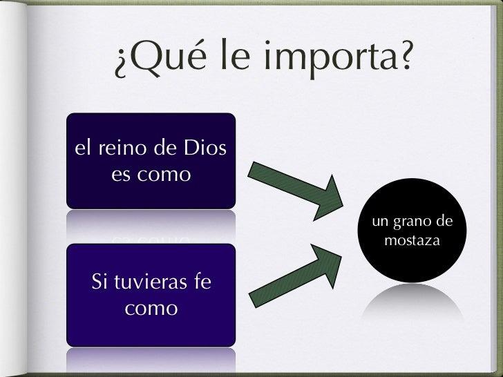 ¿Qué le importa?el reino de Dios es              Colectividad       como                         un                      g...