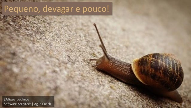 @diego_pacheco  Software Architect | Agile Coach  Pequeno, devagar e pouco!
