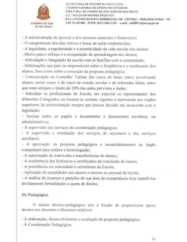 Plano Gestão EE Joaquim Mendes Pequito