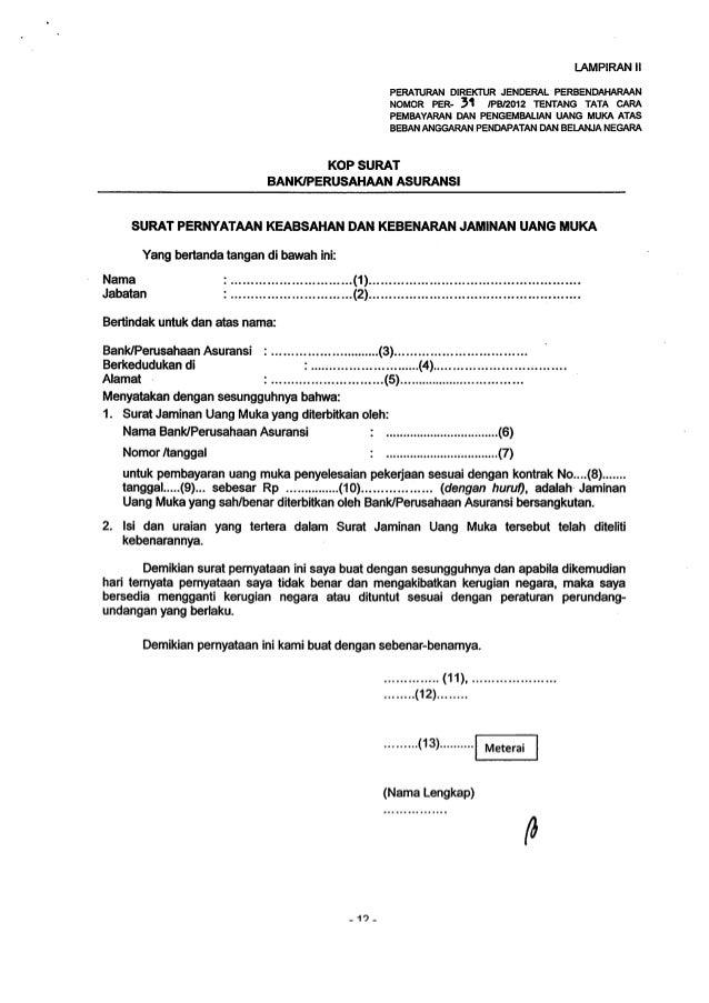 2 Free Download Contoh Surat Pernyataan Jaminan Uang Format Doc