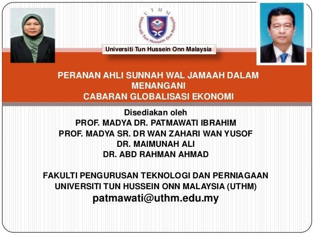 Disediakan oleh PROF. MADYA DR. PATMAWATI IBRAHIM PROF. MADYA SR. DR WAN ZAHARI WAN YUSOF DR. MAIMUNAH ALI DR. ABD RAHMAN ...