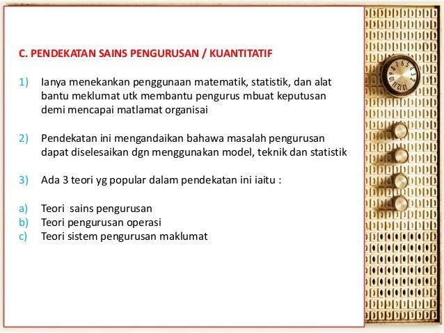 Sains matematik dan pengurusan (Mathematical sciences and management)