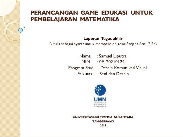 Perancangan Game Edukasi Untuk Presentasi