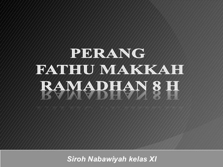 Siroh Nabawiyah kelas XI
