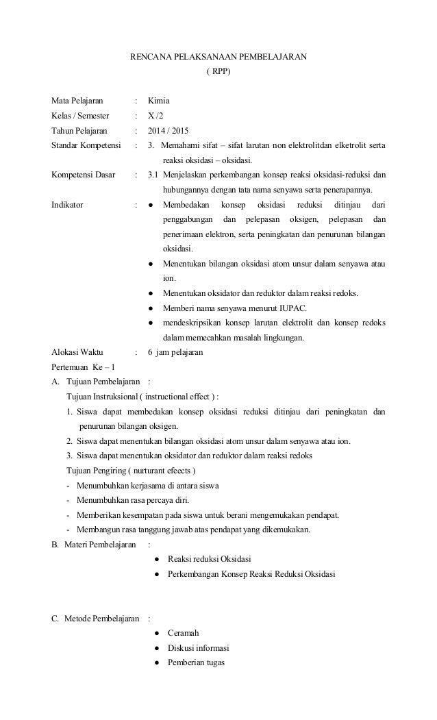 Perangkat Kimia X Smt 2 Sma Amp Ma 2015