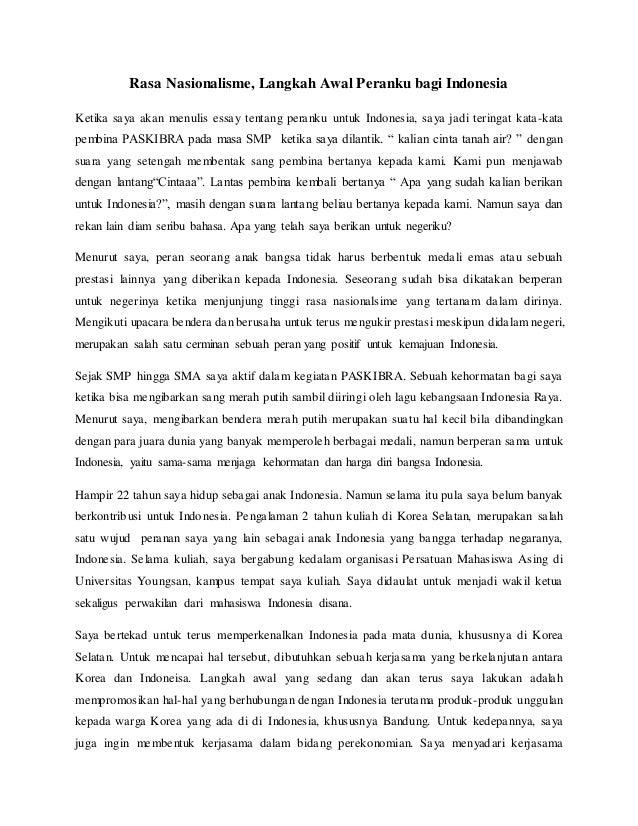 essay peranku bagi bangsa indonesia
