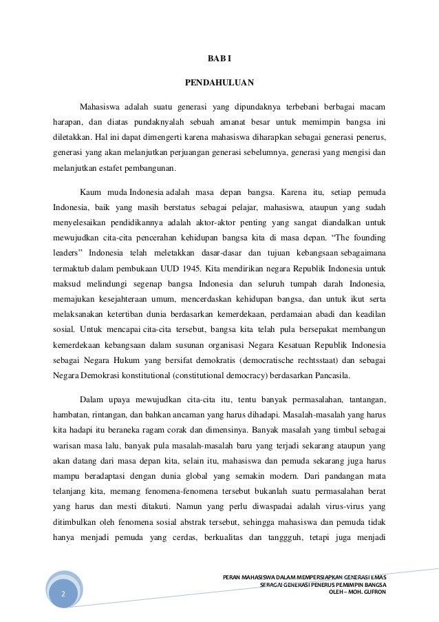 contoh essay peran mahasiswa dalam menghadapi mea