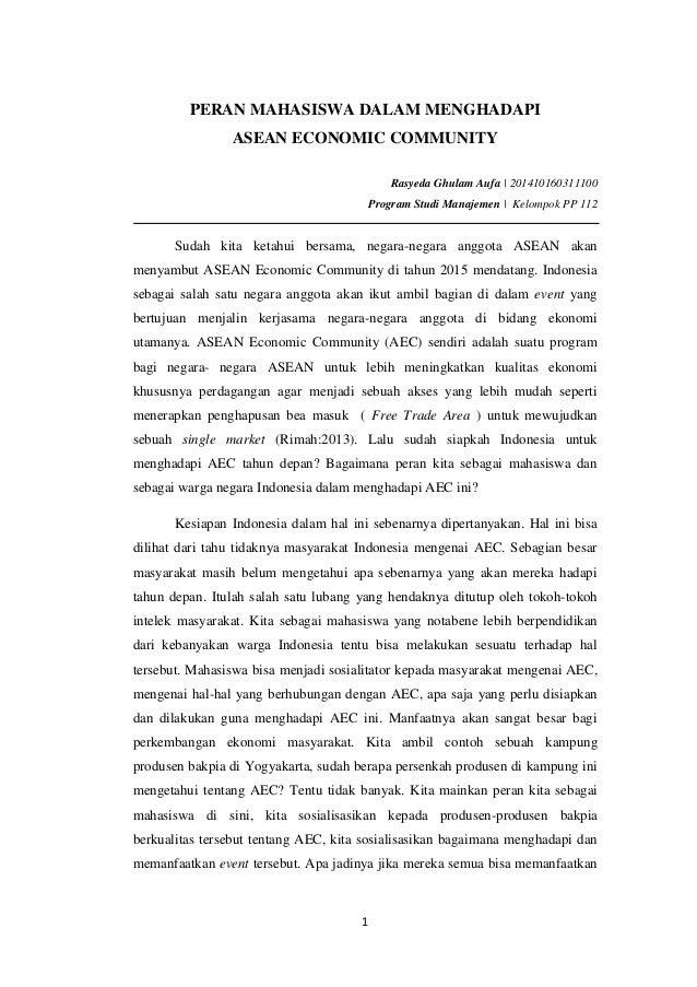 contoh essay tentang peran mahasiswa dalam menghadapi mea