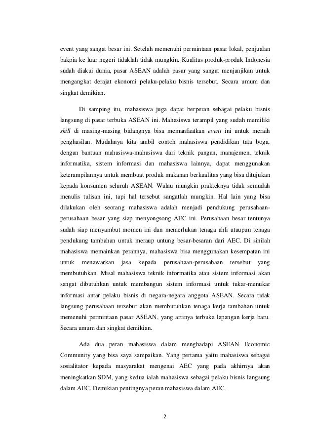 essay tentang peran mahasiswa dalam menghadapi mea