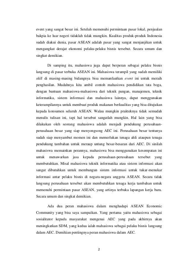 essay peran mahasiswa dalam menghadapi mea
