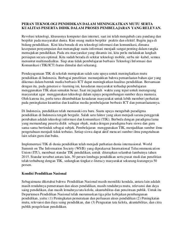 pendidikan berbasis ict essay Academiaedu is a platform for academics to share research papers skip to pengembangan media pembelajaran berbasis ict ict dalam pendidikan.