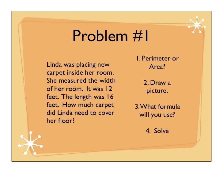 Perimeter and Area Word Problems